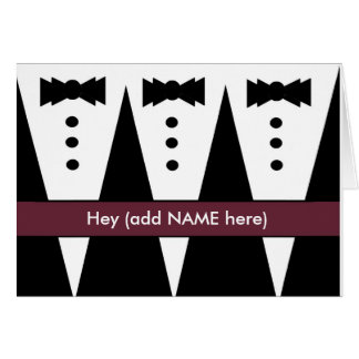 Groomsmen Invitation with Three Tuxedos