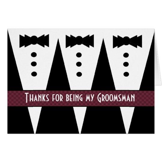 GROOMSMEN Thank You with Three Tuxedos G431 Card