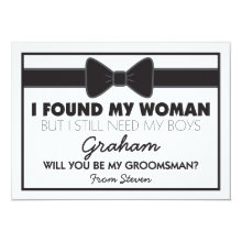 Groomsmen Wedding Bow Tie Wedding Cards