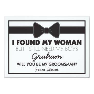 special_stationery Groomsmen Wedding Bow Tie Card