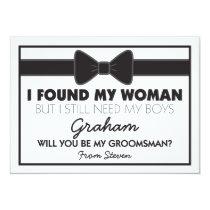 Groomsmen Wedding Bow Tie Invitation