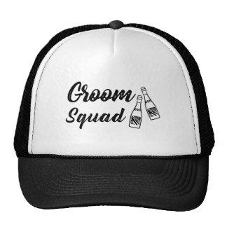 Groomsmen with Wine Bottle Wedding Gift Trucker Hat