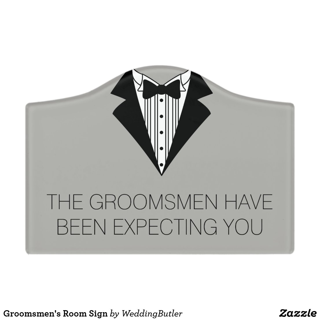 Groomsmen's Room Sign