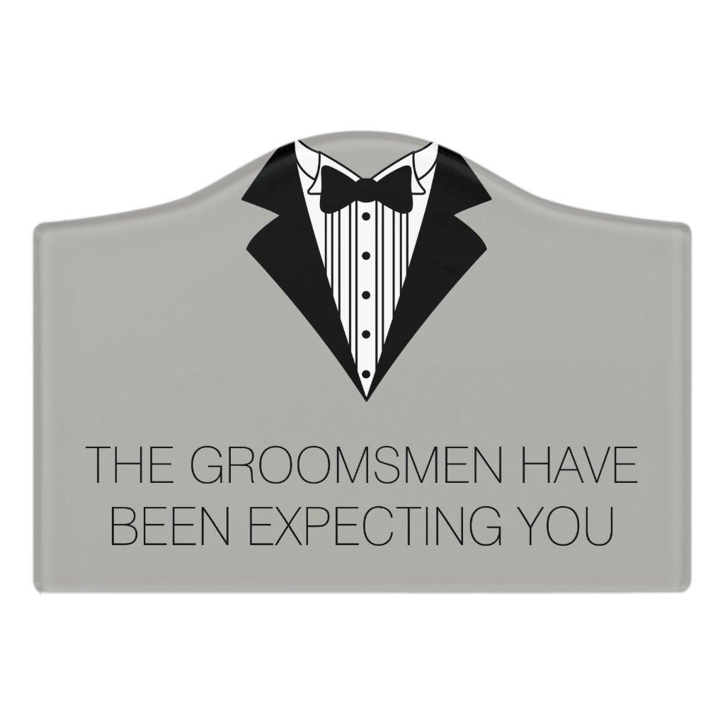 Groomsmen's Room Sign