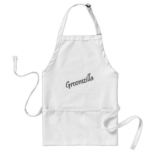 Groomzilla (Blk) Adult Apron