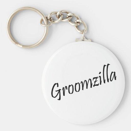 Groomzilla Llavero Redondo Tipo Pin