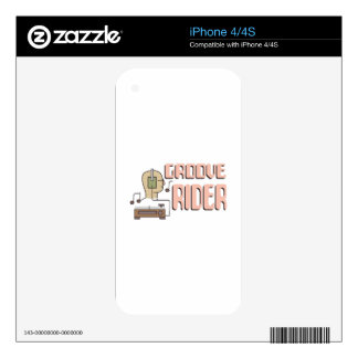 Groove Rider iPhone 4S Decal