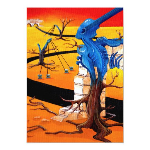 """Groove Warrior"" Original Artwork by R.A.Brown Card"