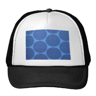 groovey blue circles trucker hats