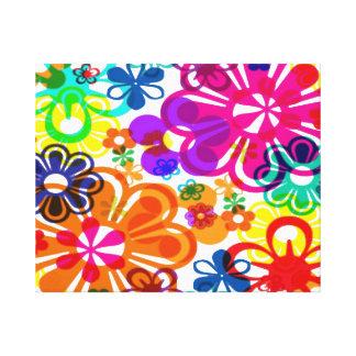 Groovey Flower Power Canvas Print