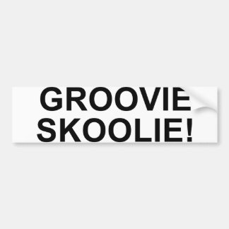 Groovie Skoolie Bumper Sticker