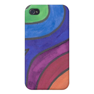 Groovin' Under the Rainbow iPhone 4 Case