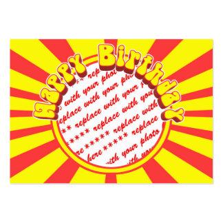 Groovy 1970 s Retro Birthday Photo Frame Business Card Templates