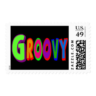 Groovy 1970's Postage Stamps