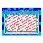 Groovy 1970's Retro Birthday  Photo Frame Greeting Card