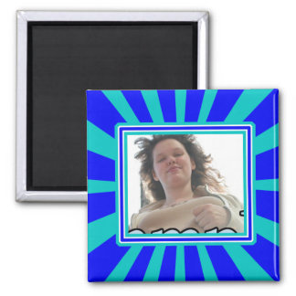 Groovy 1970's Retro Photo Frame 2 Inch Square Magnet