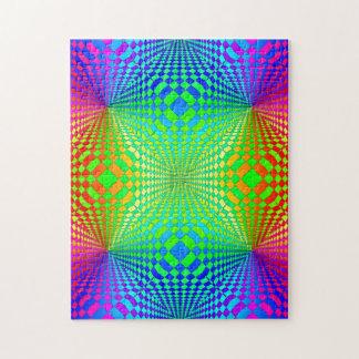 Groovy 3-D Retro Pattern Jigsaw Puzzles