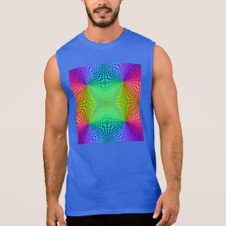 Groovy 3-D Retro Pattern Sleeveless Shirt