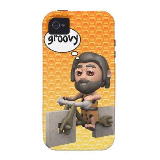 Groovy 3d Caveman Bike Square Wheels Case-Mate iPhone 4 Cases