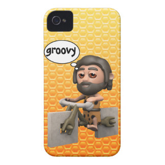 Groovy 3d Caveman Bike Square Wheels Case-Mate iPhone 4 Case