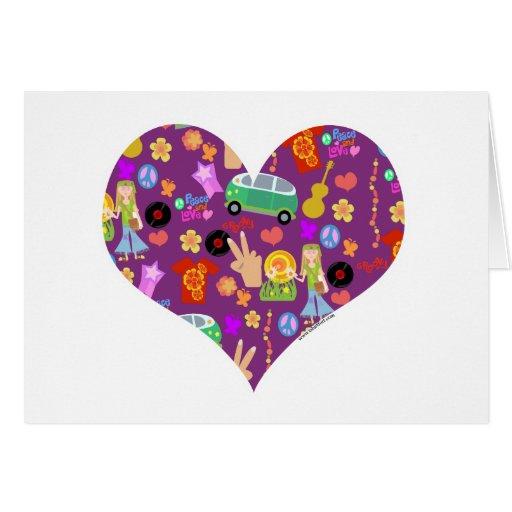 Groovy 60's Purple Love Card
