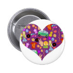 Groovy 60's Purple Love Pins