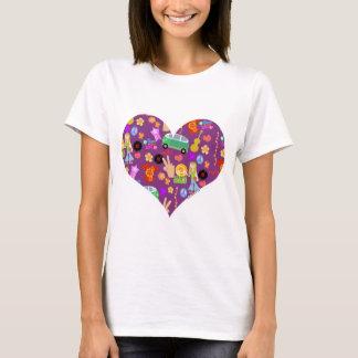 Groovy 60s Purple Love T-Shirt