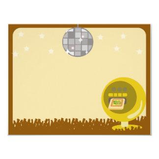 Groovy 70's Disco Party Card