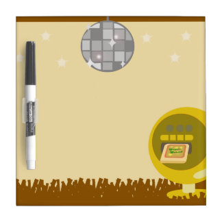 Groovy 70's Disco Party Dry Erase Board
