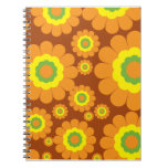 Groovy 70's Flowers Spiral Note Book
