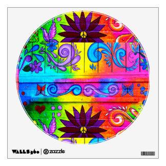 groovy 70's hippie decal