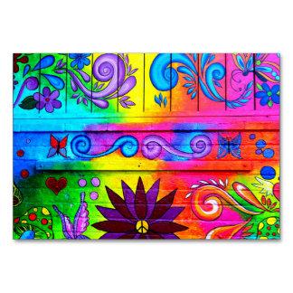 Superb Groovy 70u0026#39;s Hippie Table Card