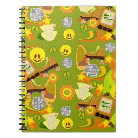 Groovy 70's Pattern Notebook