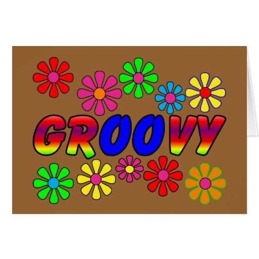 Groovy 70's Retro Flower Power Gifts Card