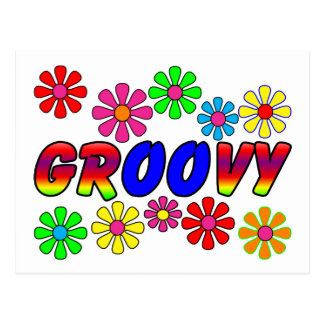 Groovy 70's Retro Flower Power Gifts Postcards