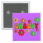 Groovy 70's T-Shirts and Gifts Pinback Buttons