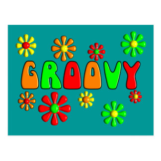 Groovy 70's T-Shirts and Gifts Postcard
