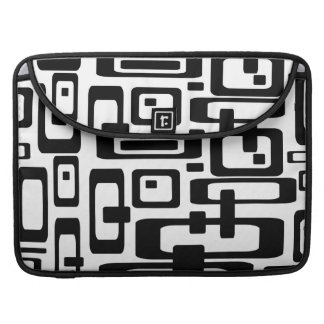 Groovy Abstract Black & White MacBook Pro Sleeve