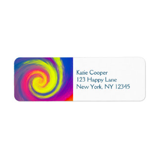 Groovy Abstract Spiral Swirl Label