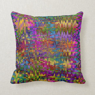Groovy Abstract Throw Pillow