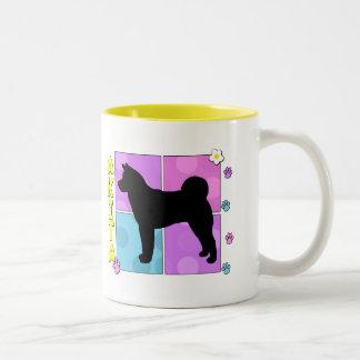 Groovy Akita Two-Tone Coffee Mug