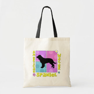 Groovy American Water Spaniel Canvas Bags