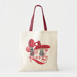 Groovy and Fun Red Mushrooms Bag