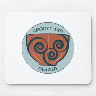 Groovy And Glazed Mouse Pad