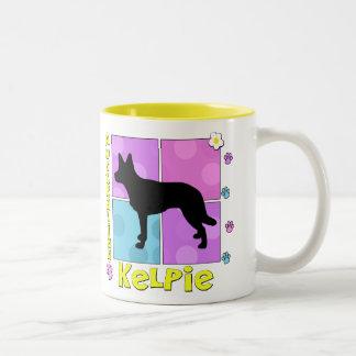 Groovy Australian Kelpie Two-Tone Coffee Mug