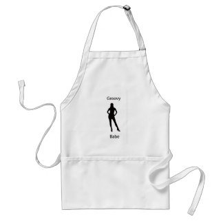 Groovy babe adult apron