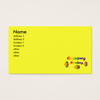 groovy baby business card
