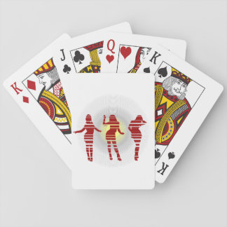 Groovy Beach Party Dancer and Sunshine Playing Cards