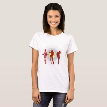Beach Themed Groovy Beach Party Dancer and Sunshine T-Shirt