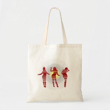 Beach Themed Groovy Beach Party Dancer and Sunshine Tote Bag